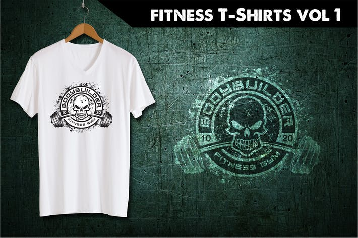 Thumbnail for Fitness T-Shirt Template 1