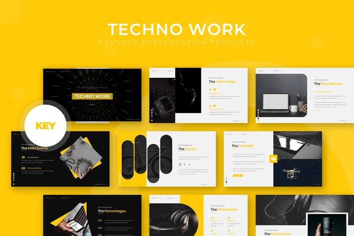 Thumbnail for Techno Work - Keynote Template