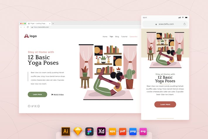 Thumbnail for Landing Page V.18 Home Yoga Indoor