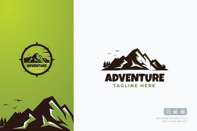 Mount Adventure Logo Template