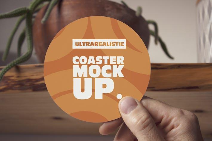 Thumbnail for Hand-Runde Untersetzer Mockup