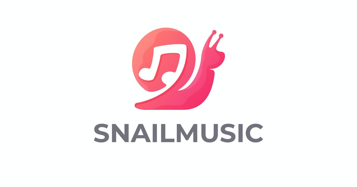 Download Snail and Music Note Negative Space Logo by Suhandi