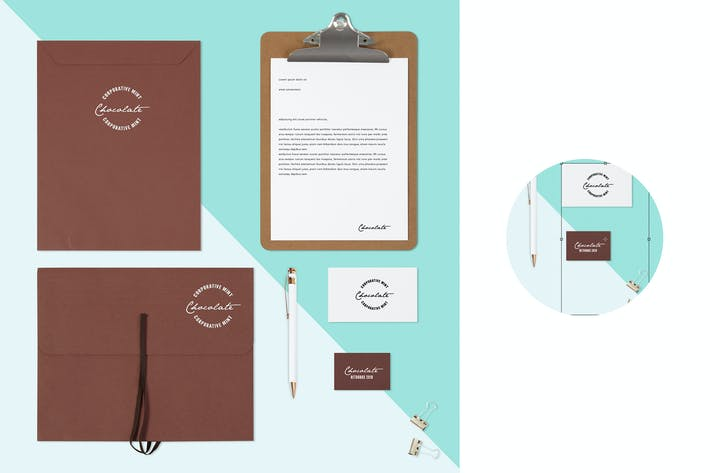 Thumbnail for Mint Chocolate Identity Branding Mock Up