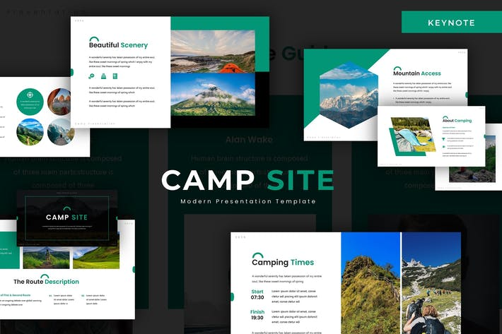 Thumbnail for Место лагеря - Шаблон Keynote