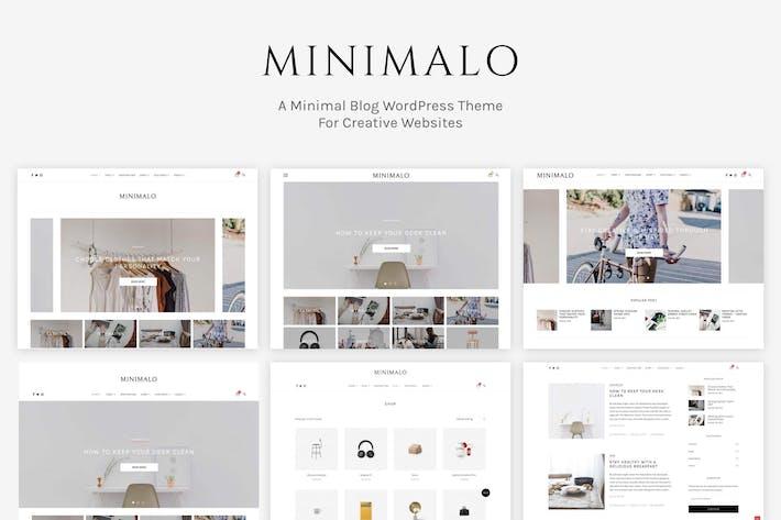 Minimalo - Un blog mínimo WordPress Tema
