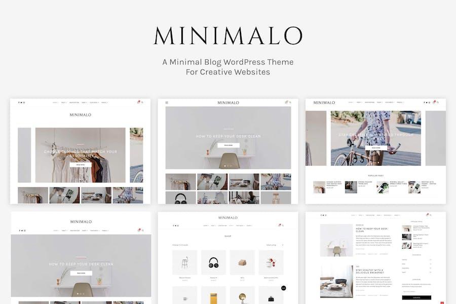 Minimalo - Ein minimales Blog-WordPress-Theme