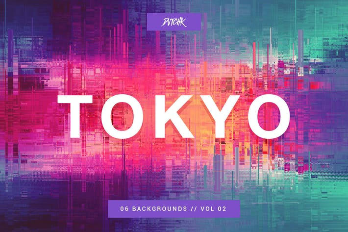 Thumbnail for Tokyo| City Glitch Backgrounds | Vol. 02