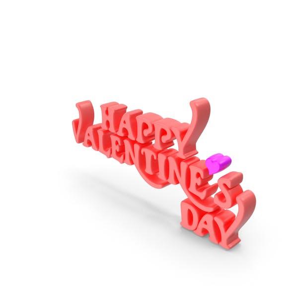 С Днем Святого Валентина Розовый