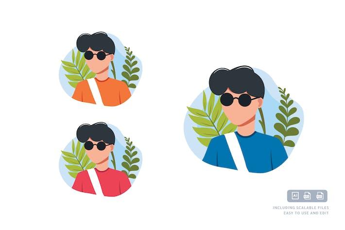 Geek Boy - Avatar Ilustration Template