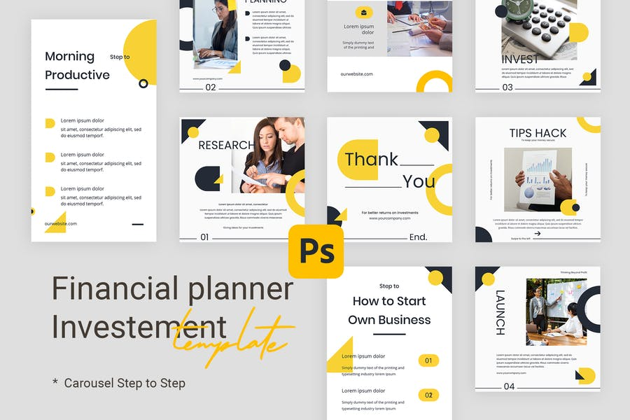 Step by Step - Instagram Templates for Finance