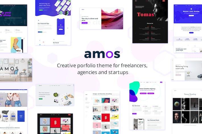 Thumbnail for Amos - Creative WordPress theme