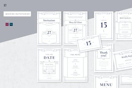 Suite d'invitation de mariage