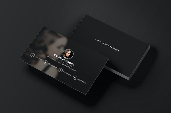 fashion business card by micromove on envato elements