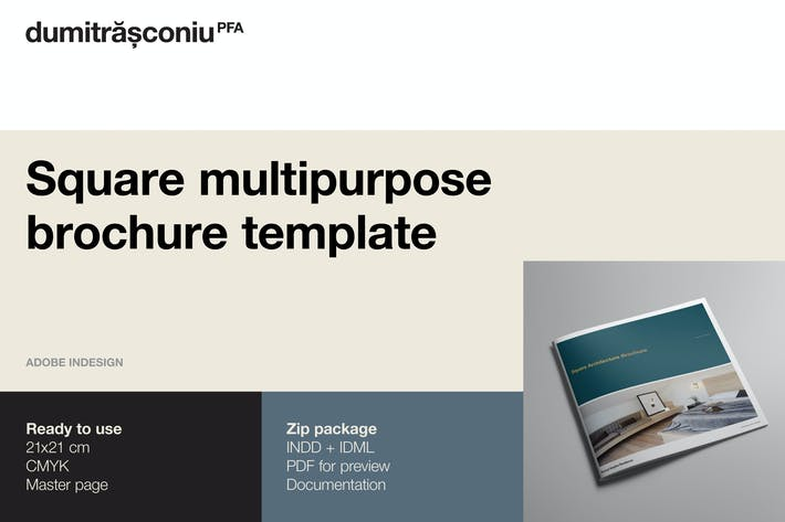 Thumbnail for Square Multipurpose Brochure