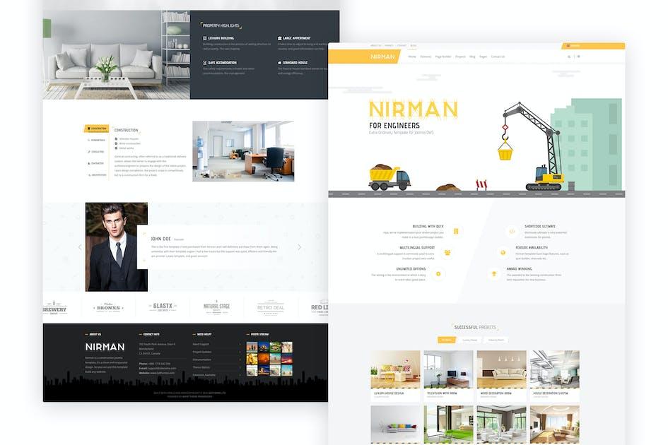 Download Nirman - Professional Construction Joomla Template by bdthemes