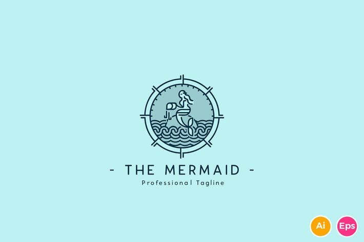 Thumbnail for The Mermaid Logo Template