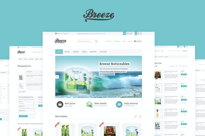 Thumbnail for Breeze — Responsivo Magento Tema