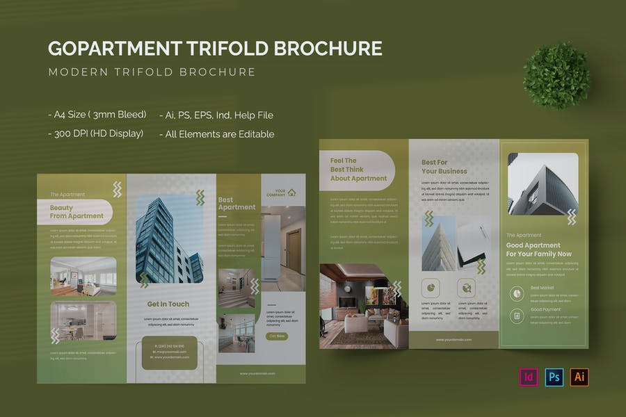 Gopartment - Trifold Brochure