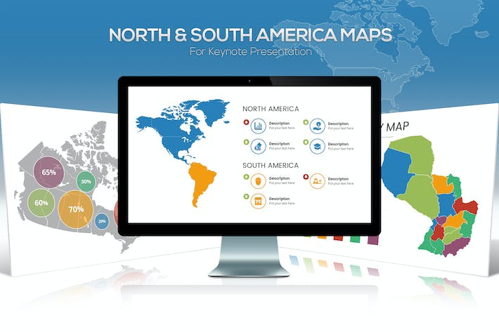 Thumbnail for North & South America Maps for Keynote
