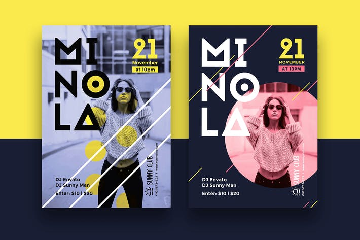 Thumbnail for DJ Minola Party Flyer/Poster