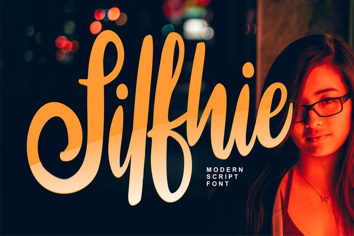 Thumbnail for Silfhie | Modern Script Font