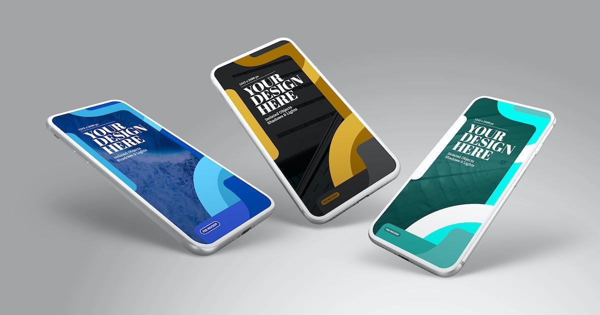 Download Phone Mockup Perspective White Set by Easybrandz-AvelinaStudio