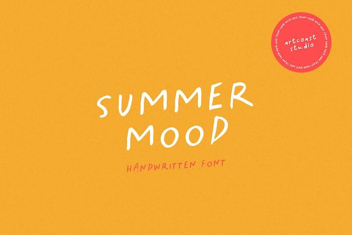 Summer Mood - Police manuscrite