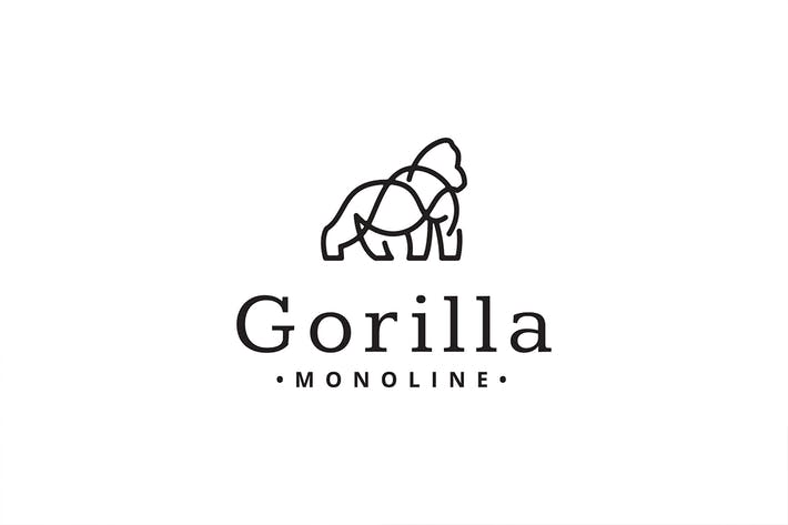 Thumbnail for Gorilla Monoline Logo Template