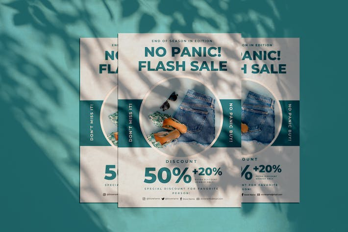 Cover Image For No panic sale Flyer