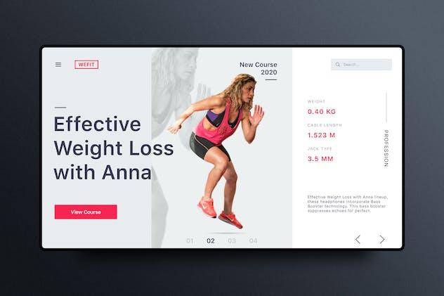 Fitness& Workout Website Banner Template