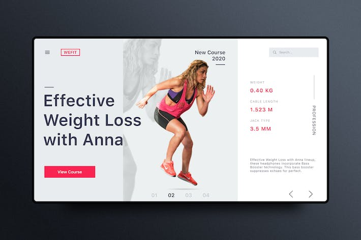 Thumbnail for Fitness& Workout Website Banner Template