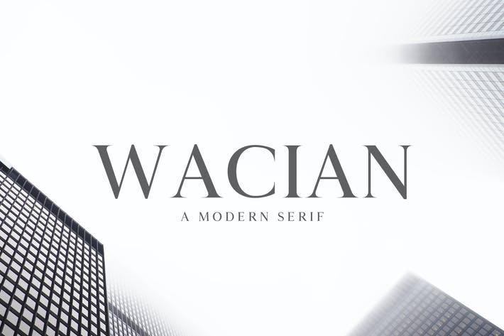 Thumbnail for Wacian Serif Font Family