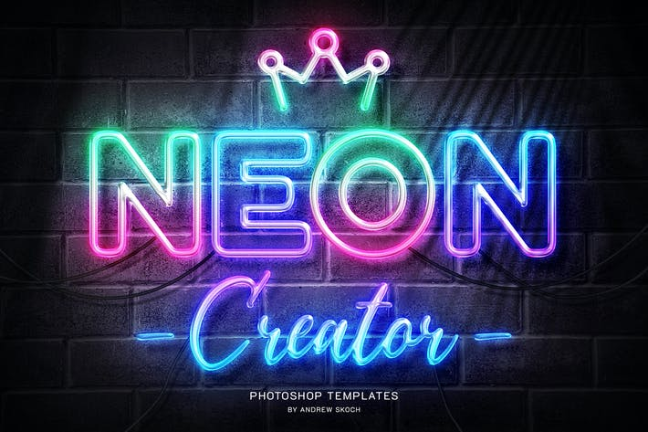 Cover Image For Neon Wall Sign Templates