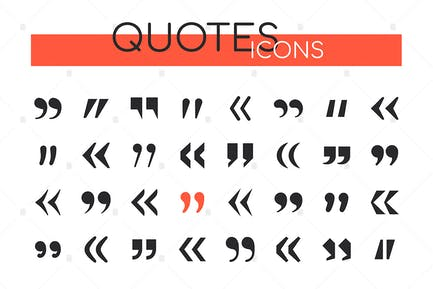 Quotes collection - set of vector web elements