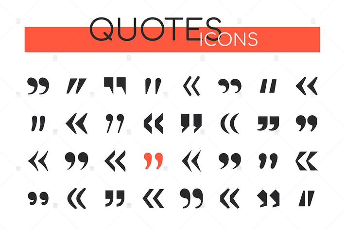 Thumbnail for Quotes collection - set of vector web elements