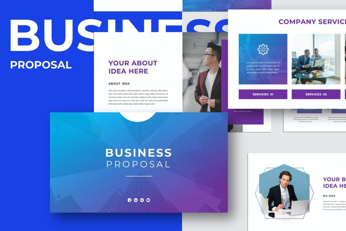 Thumbnail for BUSINESS - PROPOSAL Powerpoint Template
