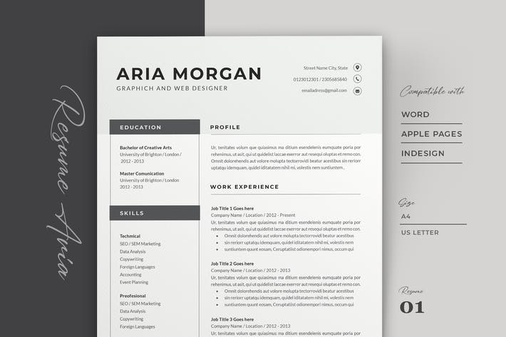 Thumbnail for Professional Resume Template