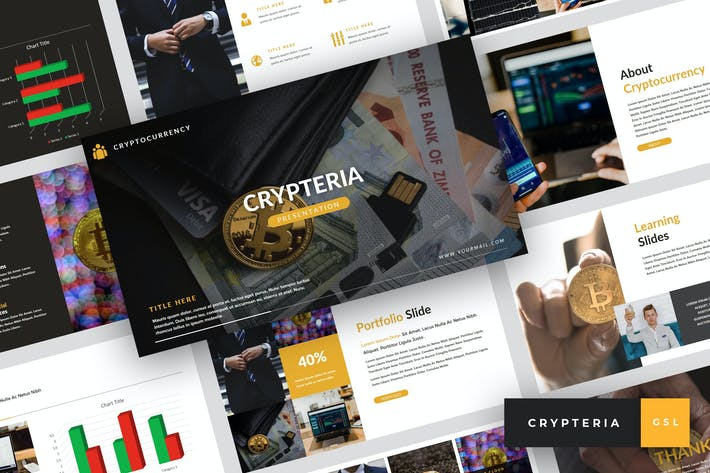 Thumbnail for Crypteria - Criptocurrency Google Slides Template