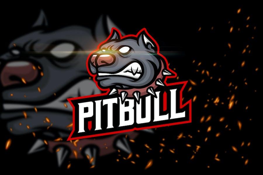 Pitbull - Angry Animal eSport Logo Template