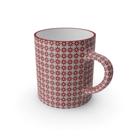 Printed Maroon Flower Cup