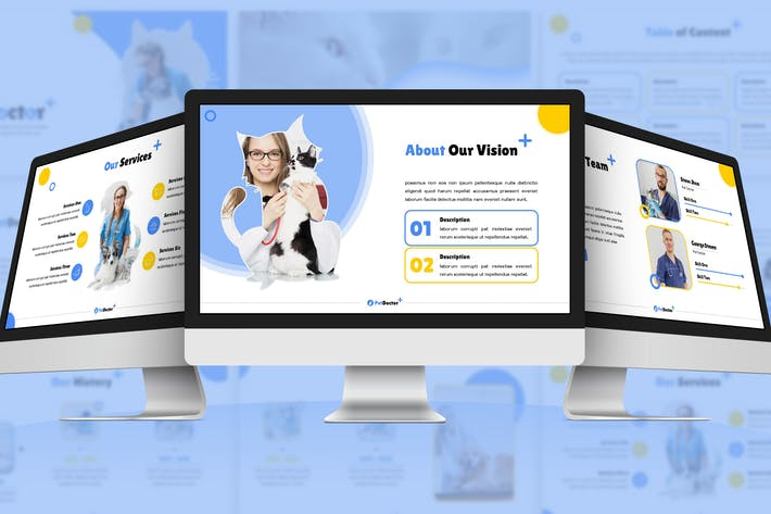 Thumbnail for PetDoctor - Animals Google Slides Template