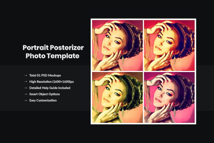 Thumbnail for Portrait Posterizer Photo Template ( Pop Art)