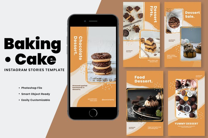 Baking Cake Instagram Stories Template