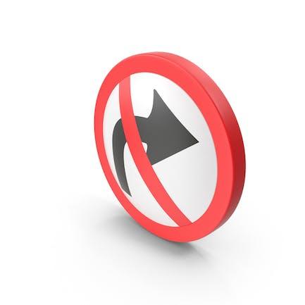 Kein Wenden Straßenschild