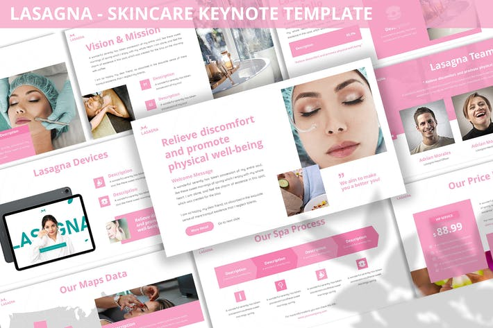 Thumbnail for Lasagna - Skincare Keynote Template