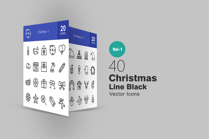 Thumbnail for 40 Christmas Line Icons