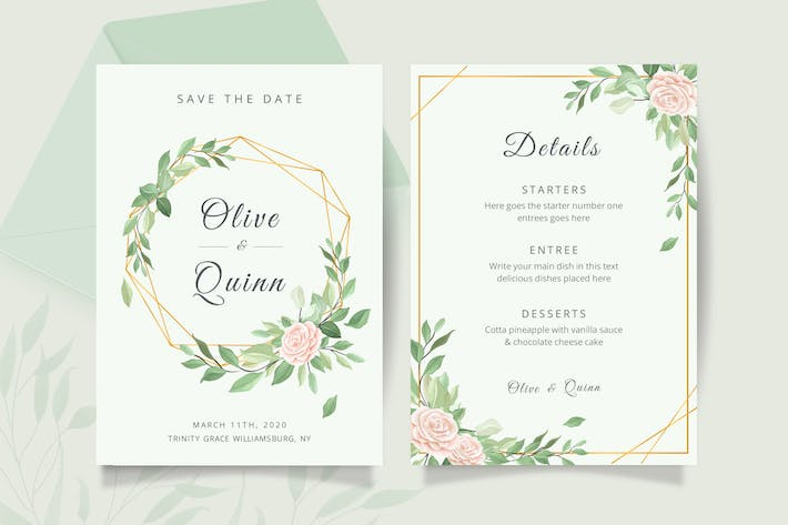Thumbnail for Wedding invitation card template