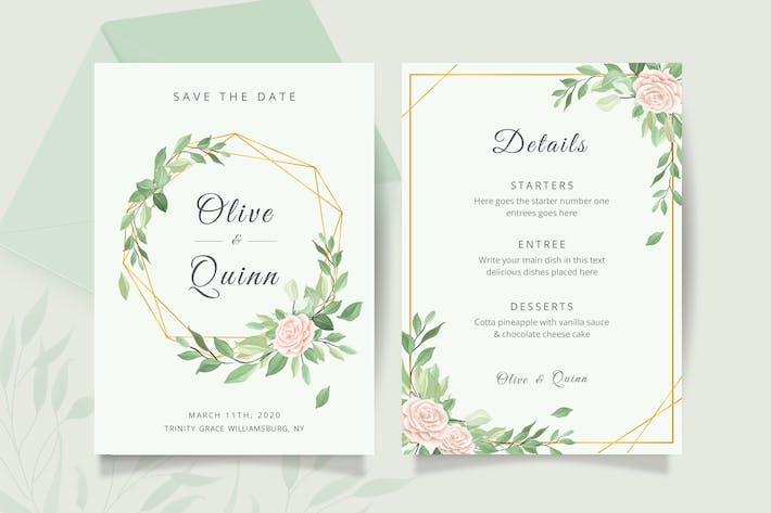 Thumbnail for Modèle de carte d'invitation de mariage