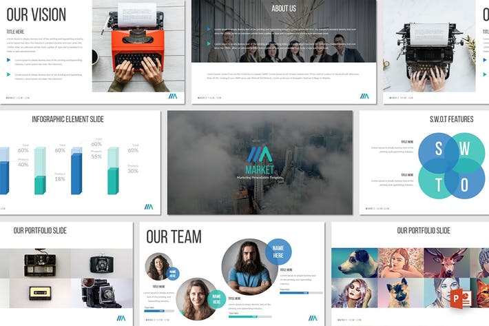 Thumbnail for Market - Powerpoint Template