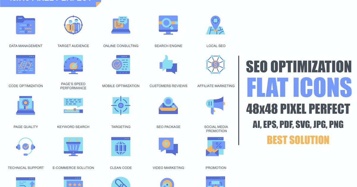 Download Simple Set Seo and Web Optimization Flat Icons by alexdndz